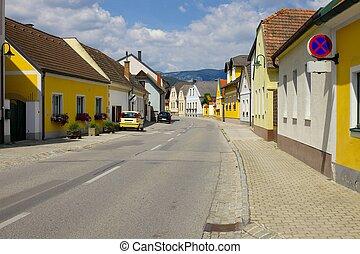 Village main street in Austria
