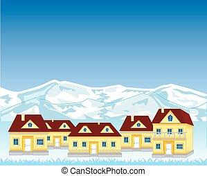 village montagne, mal placé