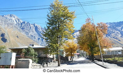 Village mountains autumn - Village in mountains autumn...