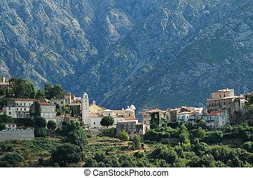 Village of Belgodere in Corsica