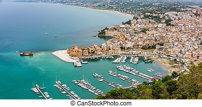 Village of Castellammare del Golfo - View from the top of ...