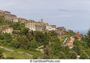 Village of Cervione, Castagnicca, Costa Verde, Northern Corsica, France