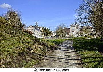 Village of Domfront in France