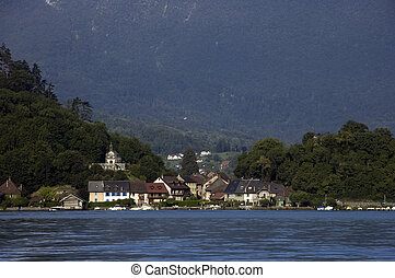 Village of Duingt at Annecy lake