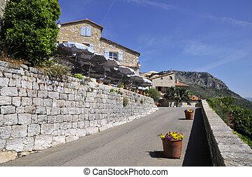 Village of Gourdon in France