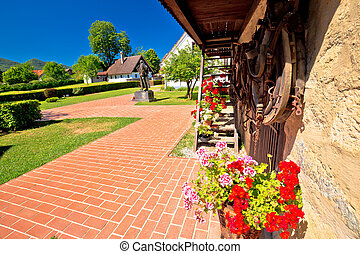 Village of Kumrovec and Josip Broz Tito birth house view,...