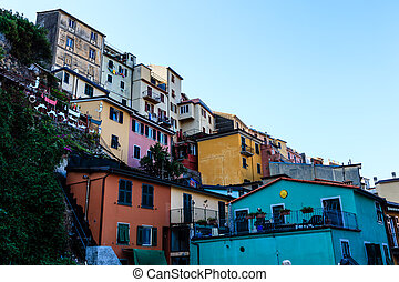 Village of Manarola in Cinque Terre, Italy
