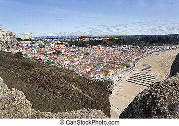 Village of Nazare seen from Sitio