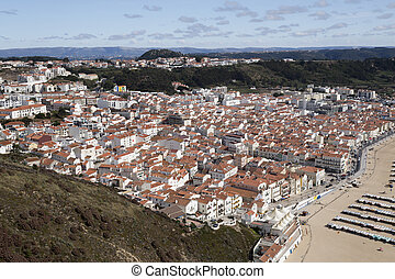 Village of Nazare seen from the Sitio