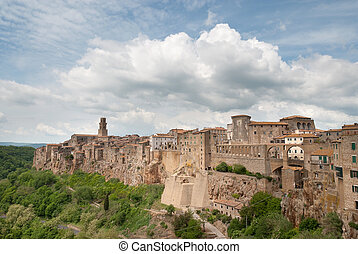 village of Pitigliano in Tuscany built on the tuff