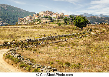 Village of Sant'Antonino in Balagne region of Corsica - A ...