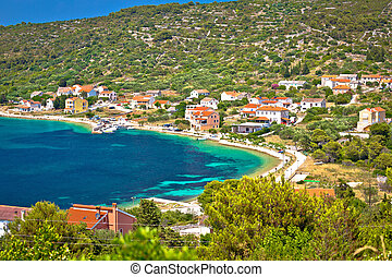Village of Soline bay on Dugi Otok island, archipelago of Dalmatia, Croatia