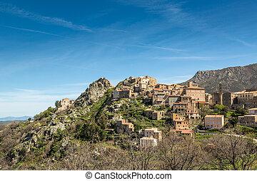 Village of Spelonato in Balagne region of Corsica - The ...