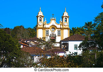 village of tiradente - old village of tiradente in minas...