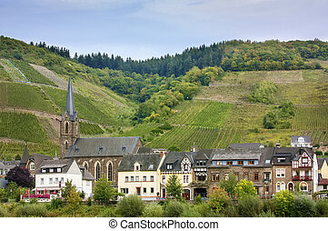 Village on Moselle river, Germany