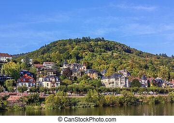 Village on Neckar river, Germany