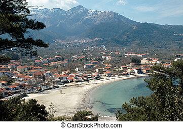 Village on the beach