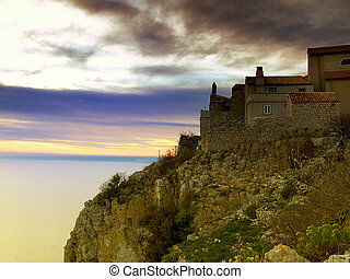 Village on the cliff - Part of village called Lubenice on ...