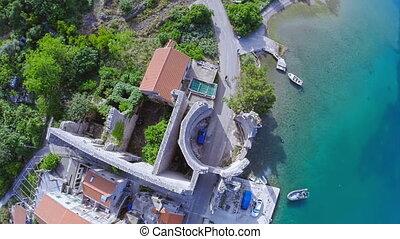 Village Polace on island Mljet, aerial