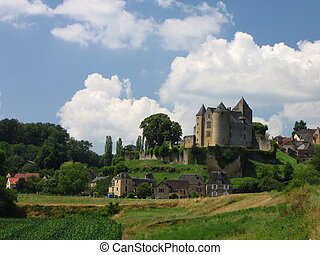 Village, Salignac, Castle