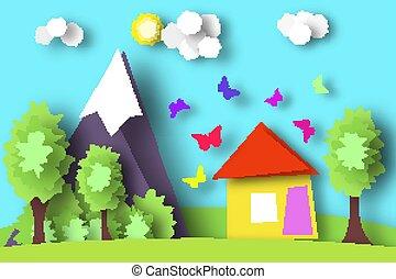 Village Scene Paper World.