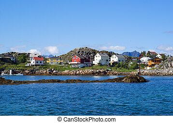 Village Skrova on Lofoten Islands - The Norwegian village...