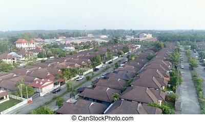 Village suburb.- Aerial top . Khao Lak. Thailand.