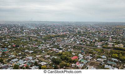 Village town aerial