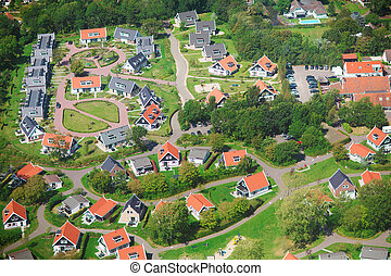Village view from above - Aerial view of a residential ...