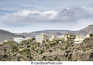 Village Wadi Bani Habib - Image of landscape with village ...