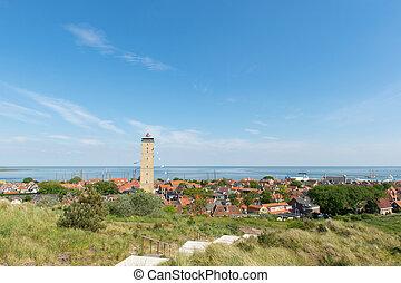 Village West-Terschelling in the Netherlands - Dutch village...