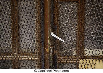 Village wooden door