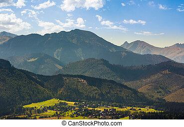 village Zakopane in High Tatra Mountains. beautiful...