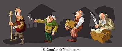 villageois, moyen-âge