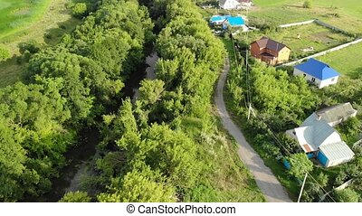 villages on river bank in Russia - villages on a river bank...