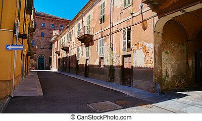 villages, rues, vieux, pictorial, italien
