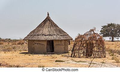 villaggio, capanna