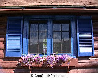 villaház, ablak