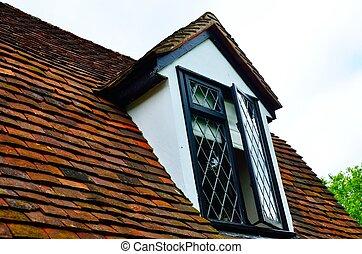 villaház, ablak, tető