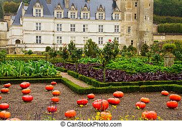 Villandry castle at fall, France