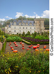 Villandry chateau in the Loire Valley, France
