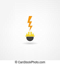 villanyáram, ikon