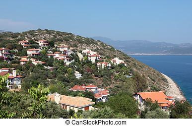 Villas on Mediterranean coast