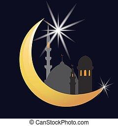 Oriental, illustration, lune vecteurs - Search Clip Art ...