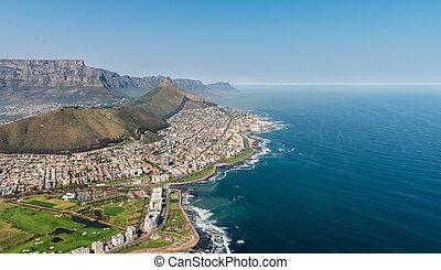 ville, afrique, (aerial, cap, view), sud