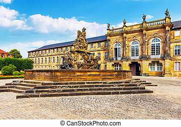 ville, allemagne, vieille architecture, bayreuth