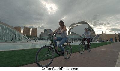 ville, arts, cavalcade, sciences, vélo, valence, espagne