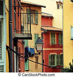 ville, azur, vieux, france, cote, gentil
