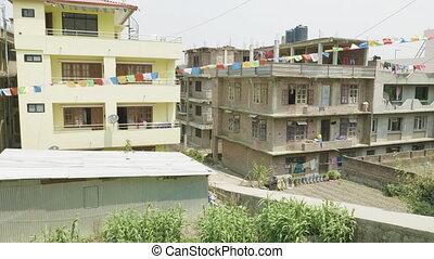 ville, bâtiments, asiatique, nepal., katmandou