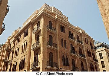 ville), bâtiments, (centre, district, lebanon., vue, historique, central, été, beyrouth, day., ensoleillé